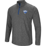 Colosseum Men's Christopher Newport Captains Grey Action Pass Quarter-Zip Shirt