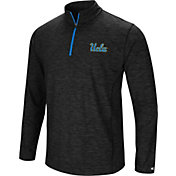 Colosseum Men's UCLA Bruins Black Action Pass Quarter-Zip Shirt