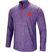Colosseum Men's Clemson Tigers Regalia Action Pass Quarter-Zip Shirt