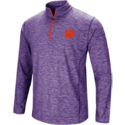 Colosseum Men's Clemson Tigers Regalia Action Pass Quarter-Zip Shirt