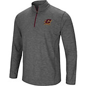 Colosseum Men's Central Michigan Chippewas Grey Action Pass Quarter-Zip Shirt