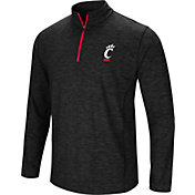Colosseum Men's Cincinnati Bearcats Black Action Pass Quarter-Zip Shirt