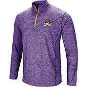Colosseum Men's East Carolina Pirates Purple Action Pass Quarter-Zip Shirt