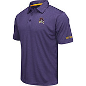 Colosseum Men's East Carolina Pirates Purple Axis Polo