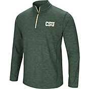 Colosseum Men's Colorado State Rams Green Action Pass Quarter-Zip Shirt