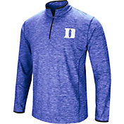 Colosseum Men's Duke Blue Devils Black Action Pass Quarter-Zip Shirt