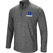 Colosseum Men's Duke Blue Devils Grey Action Pass Quarter-Zip Shirt