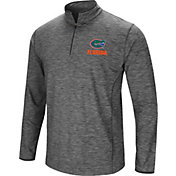 Colosseum Men's Florida Gators Grey Action Pass Quarter-Zip Shirt