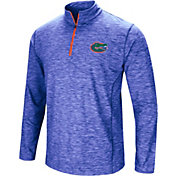 Product Image Colosseum Mens Florida Gators Blue Action Pass Quarter Zip Shirt