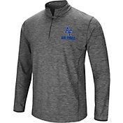 Colosseum Men's Air Force Falcons Grey Action Pass Quarter-Zip Shirt