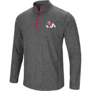 Colosseum Men's Fresno State Bulldogs Grey Action Pass Quarter-Zip Shirt