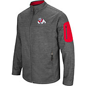 Colosseum Men's Fresno State Bulldogs Grey Anchor Full-Zip Jacket