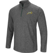 Colosseum Men's George Mason Patriots Grey Action Pass Quarter-Zip Shirt
