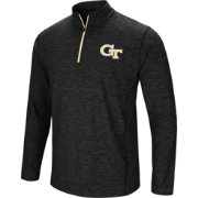 Colosseum Athletics Men's Georgia Tech Yellow Jackets Action Pass Quarter-Zip Black Shirt
