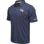 Colosseum Men's Georgia Tech Yellow Jackets Navy Axis Polo