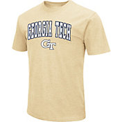 Colosseum Men's Georgia Tech Yellow Jackets Gold Dual Blend T-Shirt