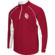 Colosseum Men's Oklahoma Sooners Crimson Airstream Quarter-Zip Windshirt