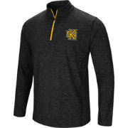Colosseum Athletics Men's Kennesaw State Owls Action Pass Quarter-Zip Black Shirt
