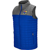Colosseum Men's Kansas Jayhawks Blue/Grey Amplitude Puff Vest