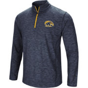 Colosseum Athletics Men's Kent State Golden Flashes Navy Blue Action Pass Quarter-Zip Shirt