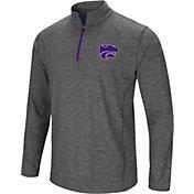 Colosseum Men's Kansas State Wildcats Grey Action Pass Quarter-Zip Shirt