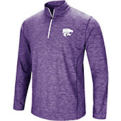 Colosseum Men's Kansas State Wildcats Purple Action Pass Quarter-Zip Shirt
