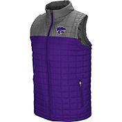 Colosseum Men's Kansas State Wildcats Purple/Grey Amplitude Puff Vest