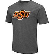 Colosseum Men's Oklahoma State Cowboys Grey Dual Blend T-Shirt