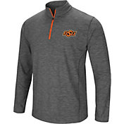 Colosseum Men's Oklahoma State Cowboys Grey Action Pass Quarter-Zip Shirt