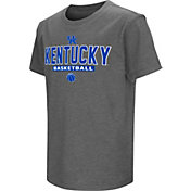 Colosseum Athletics Youth Kentucky Wildcats Grey Dual-Blend Basketball T-Shirt