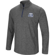 Colosseum Men's Old Dominion Monarchs Grey Action Pass Quarter-Zip Shirt