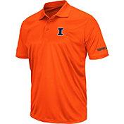 Colosseum Men's Illinois Fighting Illini Orange Stance Polo