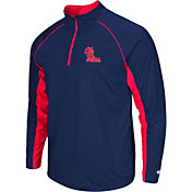 Colosseum Men's Ole Miss Rebels Blue Airstream Quarter-Zip