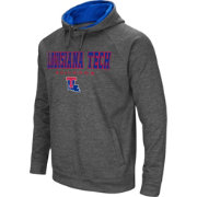 Colosseum Men's Louisiana Tech Bulldogs Grey Fleece Hoodie