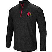 Colosseum Men's Louisville Cardinals Black Action Pass Quarter-Zip Shirt
