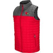 Colosseum Men's Louisville Cardinals Cardinal Red/Grey Amplitude Puff Vest