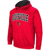 Colosseum Men's Louisville Cardinals Cardinal Red Fleece Hoodie
