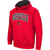 Colosseum Men's Louisville Cardinals Cardinal Red Fleece Hoodie
