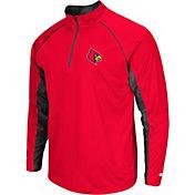 Colosseum Men's Louisville Cardinals Cardinal Red Airstream Quarter-Zip Windshirt