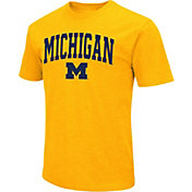 Colosseum Men's Michigan Wolverines Maize Dual Blend T-Shirt