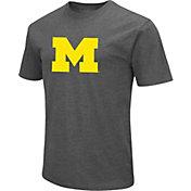 Colosseum Men's Michigan Wolverines Grey Dual Blend T-Shirt