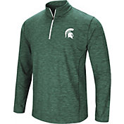 Colosseum Men's Michigan State Spartans Green Action Pass Quarter-Zip Shirt