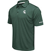 Colosseum Men's Michigan State Spartans Green Axis Polo