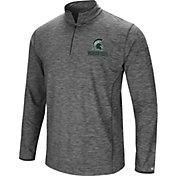 Colosseum Men's Michigan State Spartans Grey Action Pass Quarter-Zip Shirt