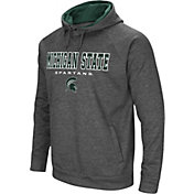 Colosseum Men's Michigan State Spartans Grey Fleece Hoodie