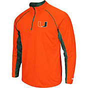 Colosseum Men's Miami Hurricanes Orange Airstream Quarter-Zip Windshirt