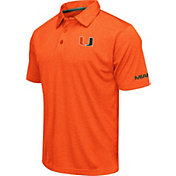 Colosseum Men's Miami Hurricanes Orange Axis Polo