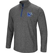 Colosseum Men's Memphis Tigers Grey Action Pass Quarter-Zip Shirt