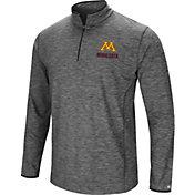 Colosseum Men's Minnesota Golden Gophers Grey Action Pass Quarter-Zip Shirt