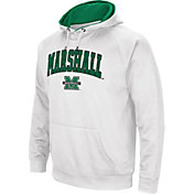 Colosseum Men's Marshall Thundering Herd White Performance Hoodie